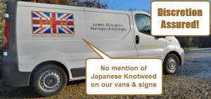 PLR Ltd - Discretion assured - no mention of Japanese knotweed on our vans and hoardings